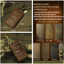 Universal Retro Style Brown Genuine Leather Key Case Holder Wallets for Car Home