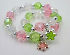 """Little girl and doll matching bracelets 18"""" doll accessory spring flower"""