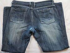 Kenneth Cole New York Jeans 36 32 blue cotton denim stone wash blue zip up