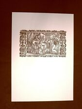 Litografia Natale Presentazione al tempio Biblia Sacra del 1669 Ristampa
