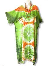 KD15 Tie Dye Kimono Plus Size Caftan Kaftan Tunic Hippy Dress - 2X, 3X, 4X & 5X