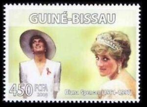 Guinea Bissau 2006 MNH, Diana Spencer, Aids, Hiv Logo, Medicine