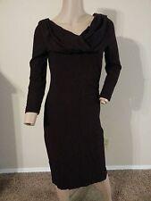 Diane Von Furstenberg Wool Blend Ruched Cowl Wiggle Dress 0 XS S