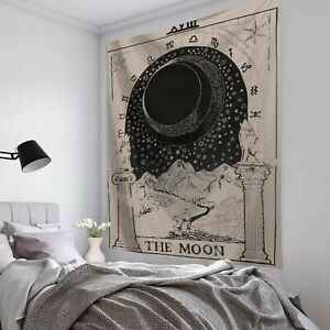 TAROT CARD Cotton Wall Hanging Poster Tapestry Hippie Wall Decor Moon  Astrology