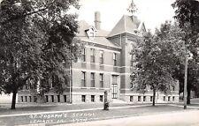 LeMars Iowa~Tiny Belfry Atop St Joseph's School~1940s RPPC Postcard