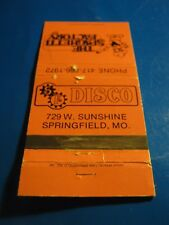Vintage The Spaghetti Factory Disco Springfield MO Empty Matchbook