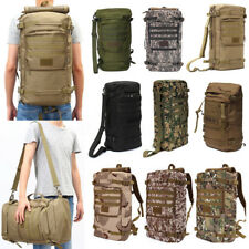 55L Hiking Outdoor Rucksack Tactical Military Backpack Shoulder Sport Canvas Bag