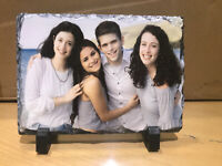 Custom Photo on rectangle Slate Image Picture Natural Personalised Gift 19x14cm