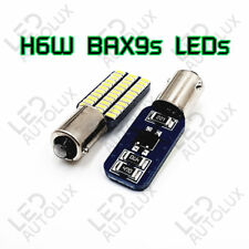 H6W BAX9s 433c 434 Offset CanBus Super Power LEDs SMD White Bulbs Error Free