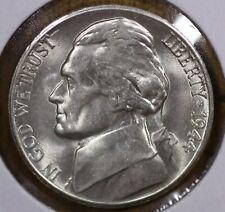 1944-S  5¢ JEFFERSON SILVER WAR NICKEL - GEM BU