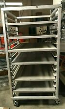 Used One 1 Nu Age Industrial Aluminum Bakers Rack On Casters With 6 Shelves