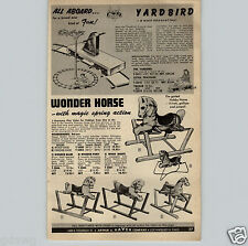1955 PAPER AD Doepke Model Toys Yardbird Backyard Kids Railroad Crank Power