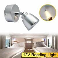 12V LED Spot Reading Light Switch Camper Van Caravan Boat Motorhome Lamp Van 3W