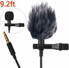 Professional Lavalier Lapel Microphone Windshield Mic for Smartphone Android New