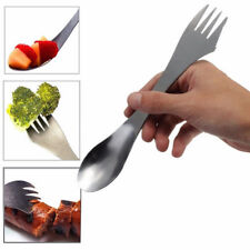 3 in 1 Titanium Forks Spoon Sporks Cutlery Utensil Combo Kitchen Outdoor Picnic