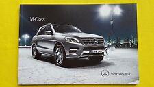 Mercedes-Benz M-Class 63 AMG SE car brochure sales catalogue 2012 MINT M Benz