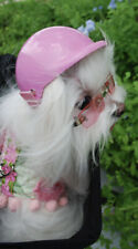 DOGGLES K9 Optix Dog Sunglasses Silver Frame Pink Lens Rhinestone Heart SZ L NEW