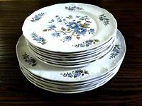 BlossomTime England Ironstone Handcrafted China Set, 6 Dinner +7 Salad Plates