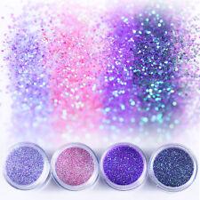 10ml Nail Art Glitter Powder Dust Purple Pink Sequins Paillette Tips Decoration