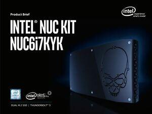 Intel NUC BOXNUC6i7KYK1 NUC6i7KYK i7-6770HQ Skull Canyon