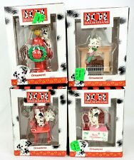 Enesco 101 Dalmatians Disney Christmas Ornaments Lot of 4 Fire Hydrant Jewelry