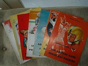 1956 Los Angeles Rams Home Game Programs/lot of  7