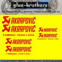 Aufkleber Set Akrapovic 6-teilig rot Motorsport Decal Sticker Farbauswahl