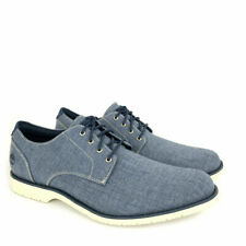 (A1UZ3) para hombres Timberland Woodhull Denim Lona Zapatos Oxford * Nuevo *