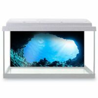 Fish Tank Background 90x45cm - Scuba Underwater Caves Diving Diver  #8539