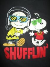 "Peanuts CHARLIE BROWN and SNOOPY ""SHUFFLIN"" (Yth LG) T-Shirt"