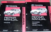 1994 TOYOTA SUPRA Service Repair Shop Workshop Manual Set New
