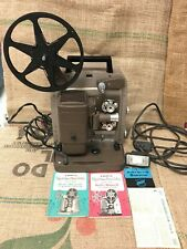 """BELL & HOWELL 254 RS 8MM Film PROJECTOR with INCRELITE 1"""" F/1.6 LENS CASE REMOTE"""