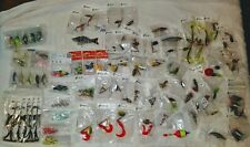 New listing Huge lot of NEW fishing lures: spinners jigheads spoons blades plugs swimbait