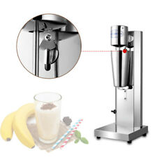 110V Commercial Food-Grade Automatic Milk Shake Machine High Speed Mixing Silver