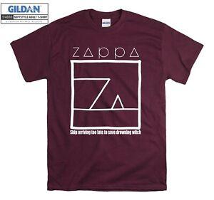 Frank Zappa Ship Arriving Too T-shirt Print T shirt Men Women Unisex Tshirt 3009