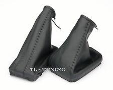 Passend für OPEL TIGRA TwinTop Bj.04-10 Schaltsack + Handbremssack LEDER SCHWARZ