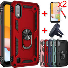 For Samsung Galaxy A01 Case Ring Stand Holder Cover Screen Protector Car Holder