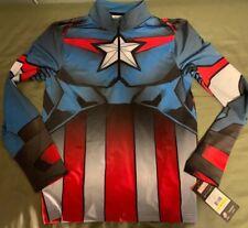 Mens Spyder Marvel Captain America Tech 1/4 Zip T-Neck Top Ski Baselayer Shirt M