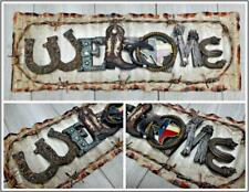 Western Country Rustic Welcome Hanging Wall Door Decor Art Plaque Sign Gift 21x7