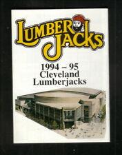 Cleveland Lumberjacks--1994-95 Pocket Schedule--Sherwin Williams--Penguins