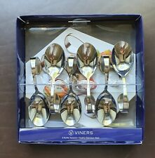 Viners Set of 6 Buffet Spoons With Curved Handles - in Original Box