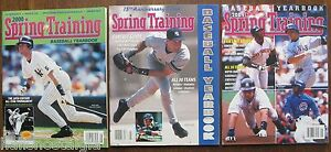 3 Spring Training Baseball Yearbooks with DEREK JETER on Covers; 2000, 2002,2004