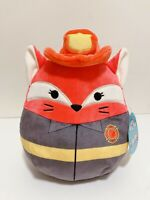 """Kellytoy Squishmallows Heroes Edition Fifi the Fox Fire Fighter 8"""" Plush Doll"""