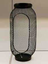 IKA Windlicht in schwarz; (49cm) Laterne Kerzendekoration