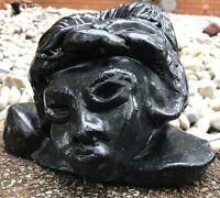 Vintage 60s 70s Ceramic Stoneware Head Bust Pottery Sculpture Mid Century Modern