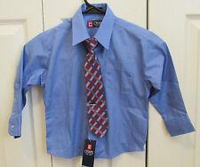 NEW! CHAPS Ralph Lauren Kids Boys Dress Shirt Long Sleeve Blue Button Down Sz 4