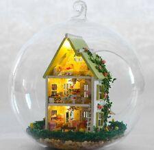 DIY LED LIGHT crystalball mini-series Dollhouse green house villa kit