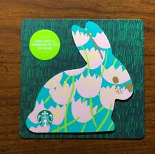 STARBUCKS Gift Card 2019 Die Cut Bunny Rabbit Blue Happy Easter Egg No $ Value