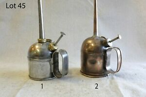 Vintage Oil Cans Oilers Antique Rare Collectable 2 Pieces (Lot: 45)