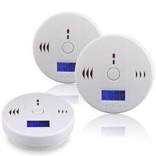 2er Set Rauchmelder mit LCD Alarm Feueralarm Rauchalarm Feuermelder CO Melder